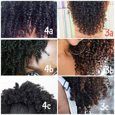 Curly hair type chart