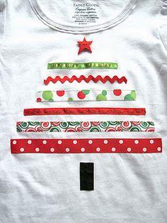 Ribbon christmas tree shirt