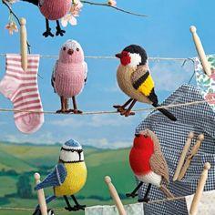 bird knitting pattern: