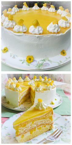 Frau Zuckerfee: Rezept für fruchtige Mango-Torte (Bake Cheesecake Mango)