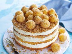 Így készül a túrógombóc torta. Choco Fresh, Hungarian Recipes, Hungarian Food, Creative Cakes, Raw Vegan, Gelato, Cake Recipes, Deserts, Muffin