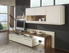 wall storage system with sideboard display cabinets tv shelf and wall shelf in choice of colour