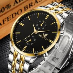 Limited Price of Men's Wrist Watches 2019 Luxury Brand Orlando Mens Quartz Watches Men Business Male Clock Gentlemen Casual Fashion Wristwat. Elegant Watches, Casual Watches, Beautiful Watches, Emporio Armani, High End Watches, Popular Watches, Luxury Watches For Men, Silver Man, Watch Sale