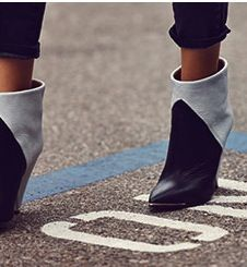 IRO SHERIE CONE HEEL BOOTIES. One bazillion dollars.