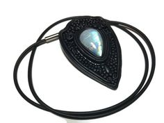 Moonstone Pendant, Fantasy Polymer Clay Pendant, Boho Jewelry, Gothic Jewelry, Natural Moonstone Pendant, Whimsical Moonstone Pendant