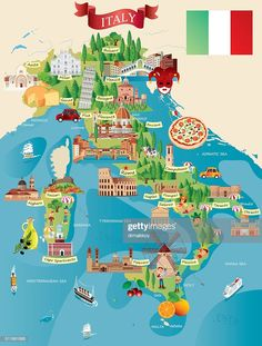 View top-quality illustrations of Cartoon Map Of Italy. Find premium, high-resolution illustrative art at Getty Images. Travel Maps, Travel Posters, Travel Destinations, Italy Map, Italy Travel, Map Of Italy Cities, Italy Illustration, Canvas Prints, Art Prints