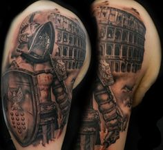 Gray and black 3d portrait tattoo tatouages pinterest for Tattoo shops in moreno valley