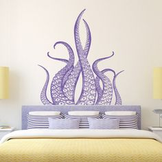 Octopus Wall Decal tentacules-Kraken sticker mer animaux