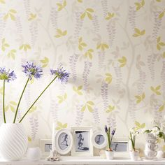 Avebury Amethyst Wallpaper | Laura Ashley USA