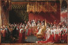 This picture was painted in 1839 by Sir George Hayter (1792-1871) and depicts the Coronation of Queen Victoria at Westminster Abbey on 28 June 1838.