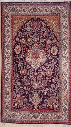 NEW CONTEMPORARY PERSIAN SARUK AREA RUG 2104 - AREA RUG This beautiful Handmade Knotted Rectangular rug is approximately 4 x 7 New Contemporary area rug from our large collection of handmade area rugs with Persian Saruk style from Iran/Persia with Wool