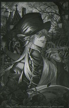 Der Undertaker, Black Butler Undertaker, Ciel Phantomhive, Claude Faustus, Black Butler Meme, Black Butler Characters, Butler Anime, Fanart, Shinigami