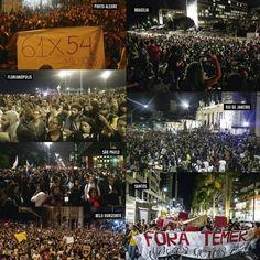 Manifestações  contra o impeatchment (Golpe) da PresidentA Dilma Rousseff  #ForaTemer 31/08/2016