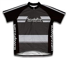 2f270d2bc Black ScudoPro Moisture Wicking Fabric Short Sleeve Cycling Jersey for Men  Size 2XL