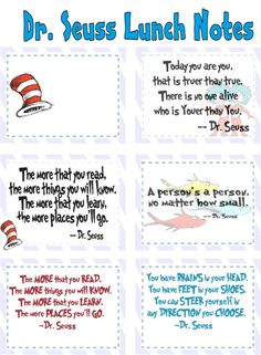 dr seuss lunch notes free printables