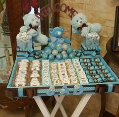 #babyboy #babyshower #cute #elegant #stand #filled #of #luxurious #personalized #chocolate #teddybears #availableforgirl #orderurs @nancy_decoration