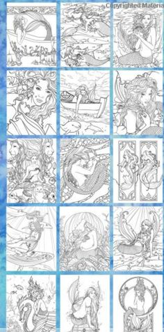 The designs in this mermaid adult coloring book are breathtaking! I want to color them all.