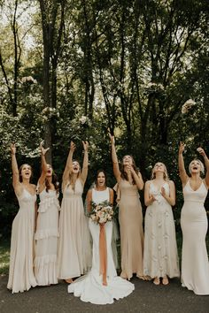 Bridesmaid dresses, kindly check this spectacularly and bright pin photo ref 6494594100 today. Mismatched Bridesmaid Dresses, Bridesmaids And Groomsmen, Wedding Bridesmaid Dresses, Dream Wedding Dresses, Bridesmaids With Different Dresses, Mismatched Groomsmen, Bridal Party Dresses, Cute Wedding Ideas, Wedding Pics