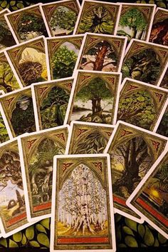 The Green Man Tree Oracle. An ogham oracle deck. Sadly out of print, but you can still find copies online. Divination Cards, Tarot Cards, Oracle Reading, Rune Stones, Green Man, Tarot Decks, Deck Of Cards, Beautiful Artwork, Mind Blown