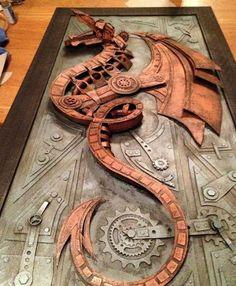 The Odd Blogg: Lance Oscarson's Cardboard Steampunk Sculptures are Amazing