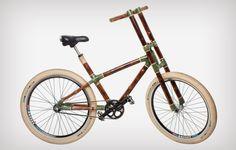 Bicicleta de bambú. Eco friendly bike