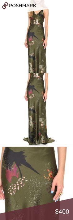 "Haute Hippie long dress Full length slip dress ""birds of paradise "" Haute Hippie Dresses Maxi"