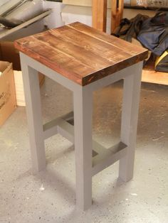 Work Shop Bench Stool with Mortise and Tenon Joints
