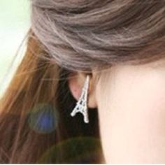 Pray for Paris Earrings✨10 available✨ Cute silver toned zinc alloy earrings. New in package. Jewelry Earrings