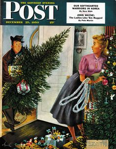 Tree Love.....December 1950 Post Cover