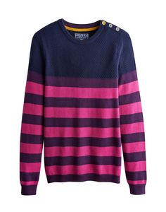 Joules Knitted Jumper, Beau Stripe Rouge