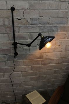 Bakelite Swing Arm Wall Lamp with Wall Plug. Light Shade vintage Australiana, original moulds of the Braided light cord with wall plug. Interior Design Courses Online, Swing Arm Wall Light, Plug In Wall Sconce, Vintage Industrial Decor, Industrial Style, Wall Lights, Ceiling Lights, Do It Yourself Home, Light Shades