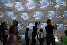 pneuhaus' multifaceted inflatable design is composed of 109 pinhole cameras