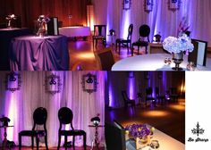 Four fabulous photos of impressive purple uplights from #diyuplighting!