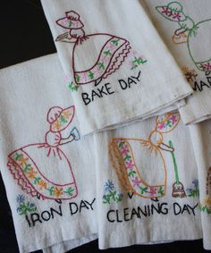 hand wash all our antique dishes....glasses.....silver...we made a family pact...only have things in our homes that we use....collect the flour sack towels....one washes...one dries...we talk...sweet S-L-O-W time.... dry I smile........