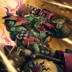 WAAAGH!!! by edgarsh422 on DeviantArt Orks 40k, Warhammer 40000, Warhammer Fantasy, Fantasy Artwork, Site Design, Instagram, Deviantart, Superhero, Gallery