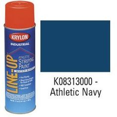 Krylon Krylon Industrial Line-Up Wb Athletic Field Striping Paint Athletic Navy – Lot of 12 Steam Bath, Steam Spa, Paint Rollers With Designs, Minwax, Paint Shop, See On Tv, Wall Treatments, Lineup, Industrial