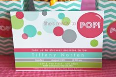 """Ready to Pop"" baby shower invite. #baby #shower"