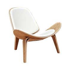 Make a statement with this thoroughly chic chair. Inspired by mid-century silhouettes, this Wings Chair features a strikingly curved design, beautiful natural-finished framing, and charmingly hued anil...  Find the Wings Chair in Natural and Leather, as seen in the April Showers Sale Collection at http://dotandbo.com/collections/april-showers-sale?utm_source=pinterest