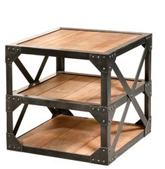 Stunning Industrial Side Table
