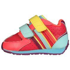 adidas Infant/Toddler Street Run III CF Sneaker,Magenta/Violet/Neon « Shoe Adds for your Closet