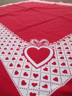 Vintage Swedish Valentine Heart Red & White by nimasonry on Etsy