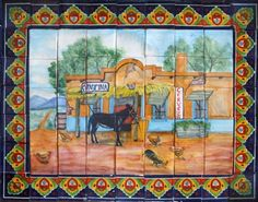 Mexican Tile Murals Kitchen Tiles