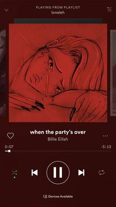 when the party's over -Billie Eilish playlist spotify Music Mood, Mood Songs, Dope Music, Billie Eilish, Wallpaper Collage, Music Wallpaper, Aesthetic Songs, Red Aesthetic, Music Lyrics