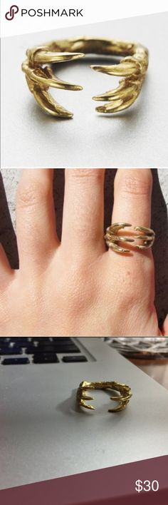 VeraMeat Dino Claw Ring New. Adjustable. Made of brass. NO TRADES. VeraMeat Jewelry Rings