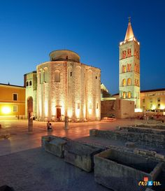 Right next to our hostel, Boutique Hostel Forum in Zadar, Croatia.