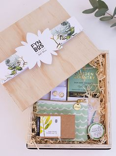 Green Rose Gift Box by Fynbos Valley Gift Boxes in South Africa