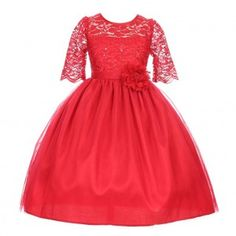 Good Girl Little Girls Red Sequin Adorned Lace Christmas Dress Girls Dress Shoes, Dress Outfits, Girls Dresses, Girls Christmas Dresses, Holiday Dresses, New Arrival Dress, Junior Bridesmaid Dresses, Little Girl Fashion, Stretch Lace