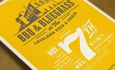 bbq and bluegrass - love the type treatment and the huge 7
