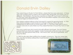Dailey Family Tree - page 37 Donald Ervin Dailey  Kids & Death