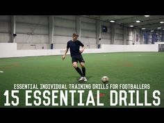 Today we're looking at 15 essential training drills that all footballers should master. Passing and receiving skills are the fundamentals of a footballer, an. Soccer Warm Up Drills, Soccer Warm Ups, Soccer Practice, Soccer Skills, Soccer Tips, Soccer Coaching, Soccer Training, Youtube Soccer, Football Tricks